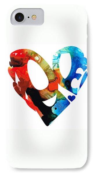 Love 8 - Heart Hearts Romantic Art Phone Case by Sharon Cummings