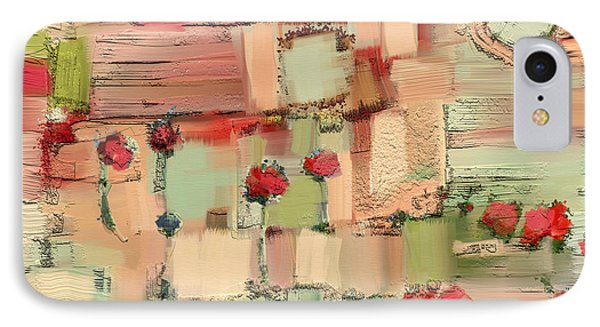 IPhone Case featuring the mixed media Love Abstract by Carrie Joy Byrnes