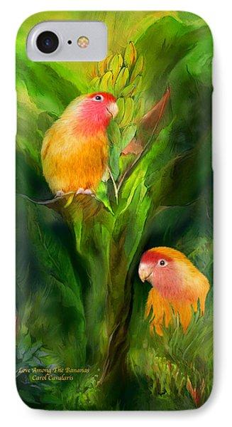 Love Among The Bananas IPhone 7 Case by Carol Cavalaris