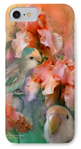 Love Among The Irises Phone Case by Carol Cavalaris