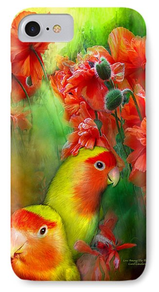 Love Among The Poppies IPhone 7 Case by Carol Cavalaris