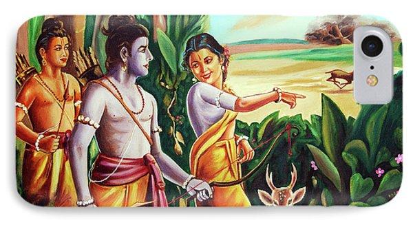 Love And Valour- Ramayana- The Divine Saga IPhone Case by Ragunath Venkatraman