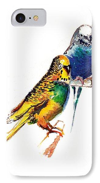 Love Birds Phone Case by Anil Nene