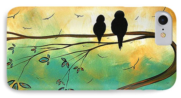 Love Birds By Madart IPhone Case by Megan Duncanson