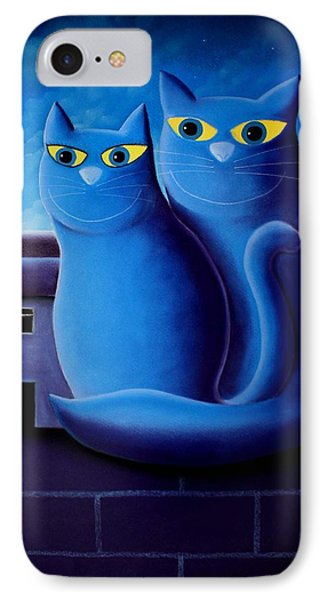 Love By The Pale Moonlight Phone Case by Chris Mackie