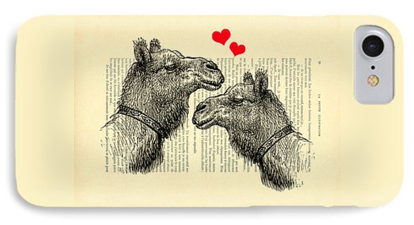 Love Camels IPhone Case by Madame Memento