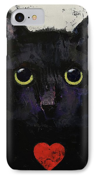 Love Cat IPhone Case by Michael Creese