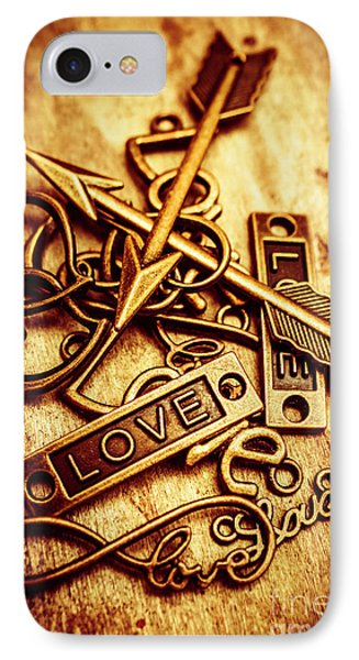 Love Charms In Romantic Signs And Symbols IPhone Case by Jorgo Photography - Wall Art Gallery