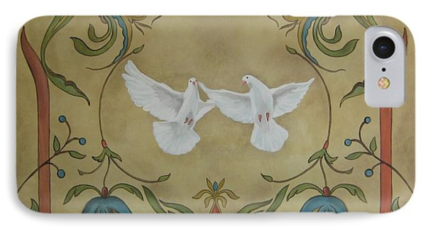 Love Doves Phone Case by Jindra Noewi