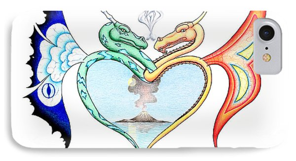 Love Dragons IPhone Case by Robert Ball