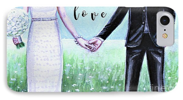 IPhone Case featuring the painting Love by Elizabeth Robinette Tyndall