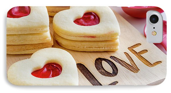 IPhone Case featuring the photograph Love Heart Cookies by Teri Virbickis