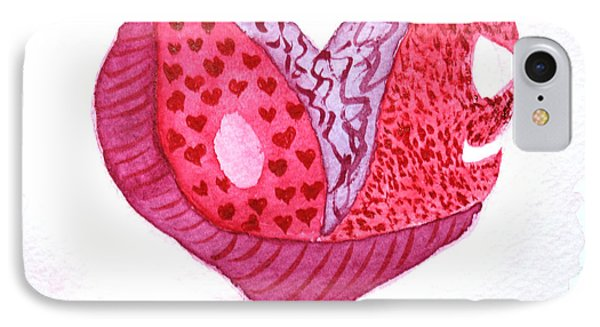IPhone Case featuring the painting Love Heart by Donna Walsh