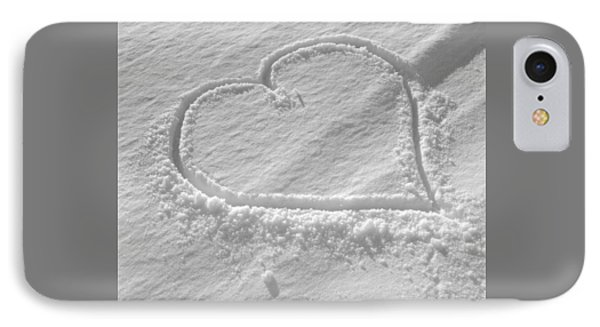 Love Heart In The Snow IPhone Case by German School