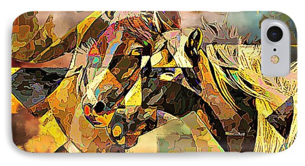 Love Horses IPhone Case by Lynda Payton