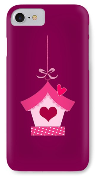 Love House T-shirt IPhone Case by Herb Strobino