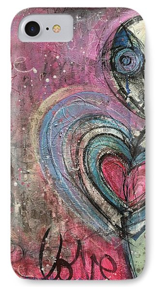 IPhone Case featuring the painting Love In All Things by Laurie Maves ART
