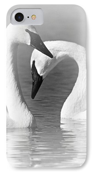 Love In Black And White IPhone Case by Larry Ricker