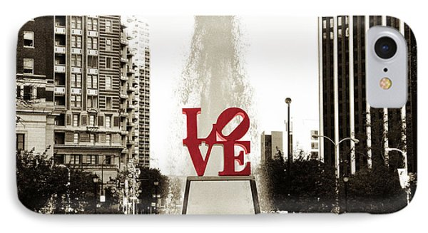 Love In Philadelphia IPhone Case by Bill Cannon