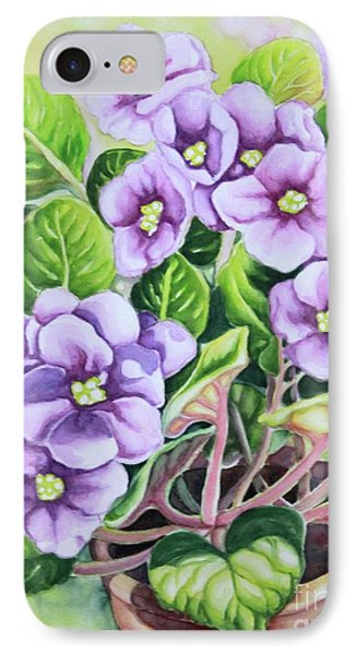 IPhone Case featuring the painting Love In Purple 1 by Inese Poga