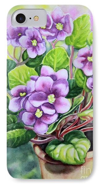 IPhone Case featuring the painting Love In Purple 2 by Inese Poga