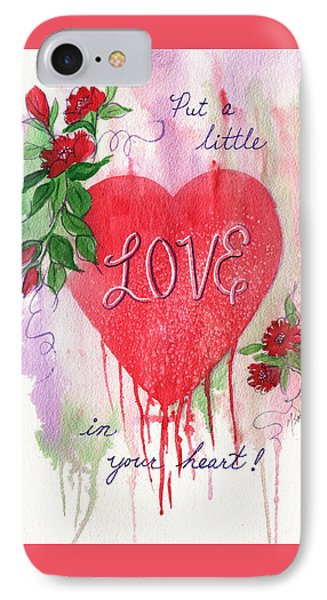 IPhone Case featuring the painting Love In Your Heart by Marilyn Smith