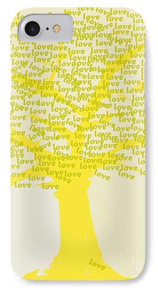 IPhone Case featuring the painting Love Inspiration Tree by Go Van Kampen