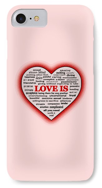 IPhone Case featuring the digital art Love Is by Anastasiya Malakhova