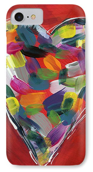 Love Is Colorful - Art By Linda Woods IPhone Case by Linda Woods