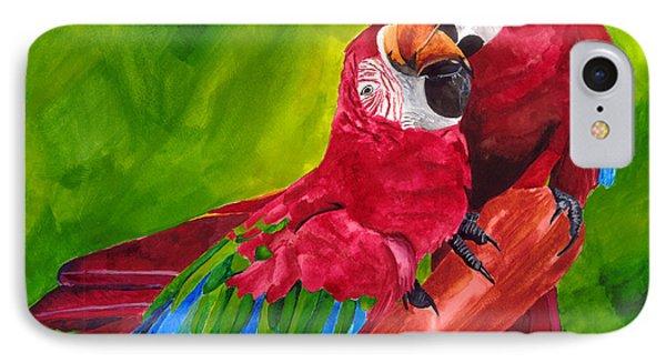 Love Macaws IPhone Case by Dawnstarstudios