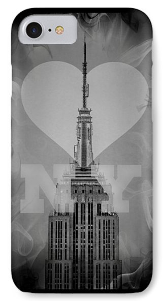 Love New York Bw IPhone Case