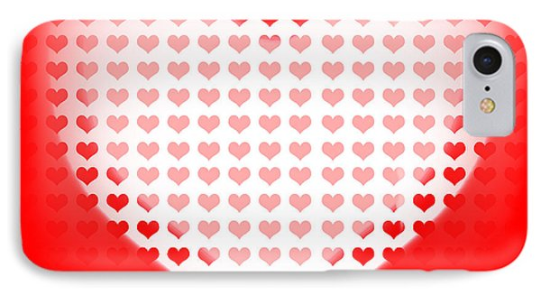 Love Of Valentines Background. Big Red Heart Phone Case by Jorgo Photography - Wall Art Gallery