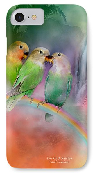 Love On A Rainbow Phone Case by Carol Cavalaris