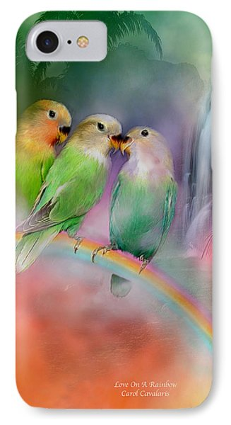 Love On A Rainbow IPhone Case by Carol Cavalaris