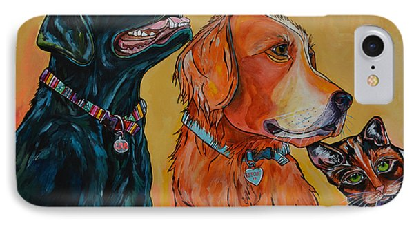IPhone Case featuring the painting Love Rescue Spay by Patti Schermerhorn