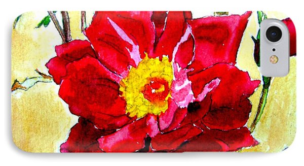 IPhone Case featuring the painting Love Rose by Ana Maria Edulescu