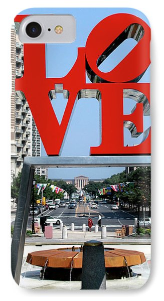 Love Sculpture In Philadelphia Phone Case by Carl Purcell