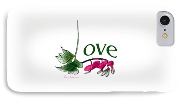 Love Shirt IPhone Case by Ann Lauwers