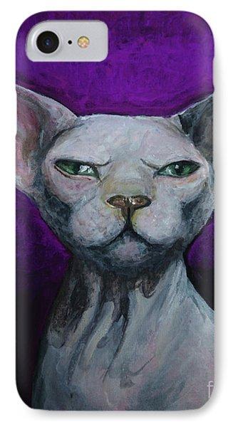 Love Sphynx Cat IPhone Case by Akiko Okabe