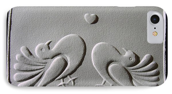 IPhone Case featuring the relief Love by Suhas Tavkar