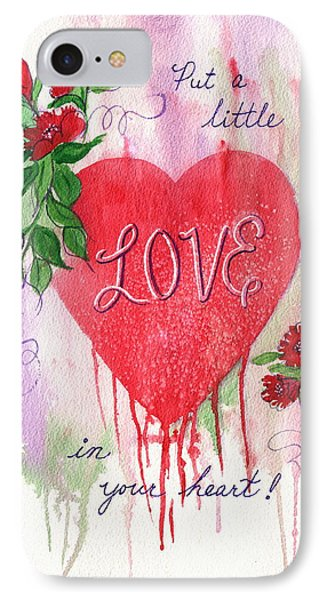 IPhone Case featuring the painting Love Valentine by Marilyn Smith