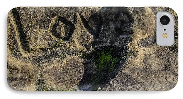 Love Written In Stone IPhone Case by Randy Bayne