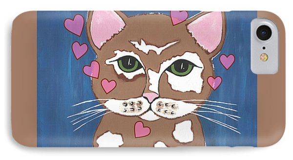 Loveable Cat IPhone Case by Kathleen Sartoris