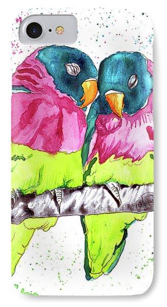Lovebirds IPhone Case by D Renee Wilson