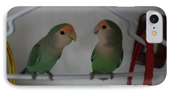 Lovebirds IPhone Case by Val Oconnor
