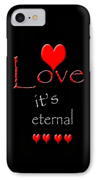 IPhone Case featuring the photograph Love....its Eternal by Cherie Duran