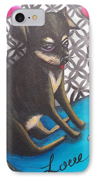 Lovely Chihuahua Puppy  Phone Case by Beryllium Canvas