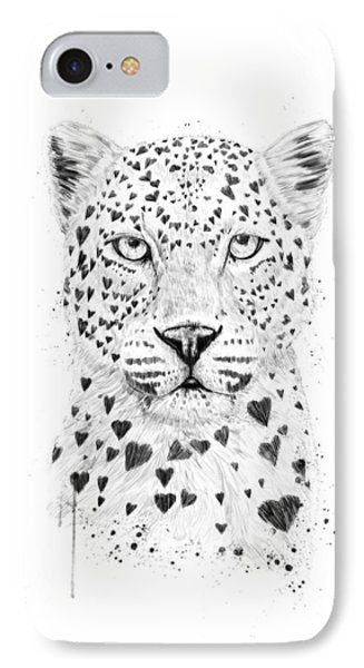 Lovely Leopard IPhone Case by Balazs Solti
