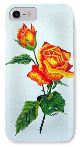 Lovely Rose IPhone Case by Terri Mills