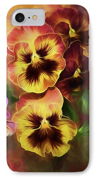 Lovely Spring Pansies IPhone Case by Diane Schuster